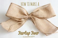How to make a Burlap