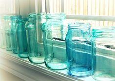 how to dye mason jars