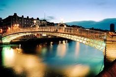 ireland, the bridge, dublin, pennies, travel, hapenni bridg, bridges, place, bucket lists