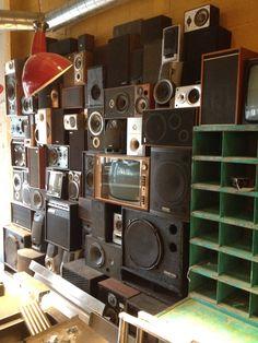 Speaker wall.
