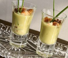 Crab & Fennel Cream with Croutons Verrine