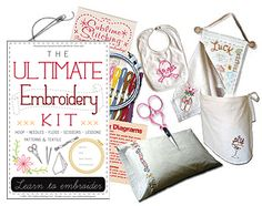 embroidery kit...  great beginner gift....from Sublime stitching. craft mafia, patterns, embroideri kit, gift ideas, fun gift, craftin, stitch, craft project, embroidery