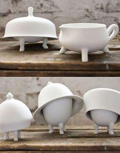cute crockery: walking dishes!