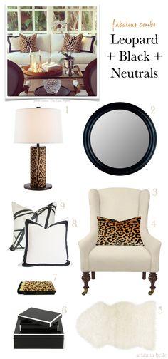 Fabulous Combo: Leopard + Black + Neutrals // by Arianna Belle for LDV