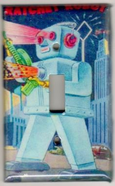 robot light-switch cover