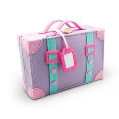 felt suitcase