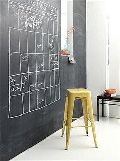I must have a chalk board wall someday! Mark Lund / The Nest