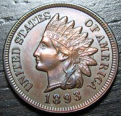 1893 Rare in this Condition Indian Cent Four by riggsbyscorner, $80.00