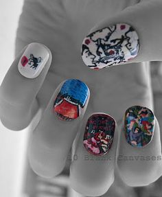 style, makeup, chilis, manicur, nail arts, beauti, hair, rhcp, red hot chili peppers nails