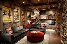 Family Room - rustic - family room - other metro - Peace Design