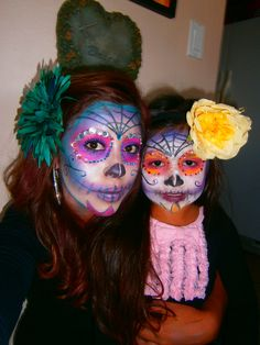 i did my #makeup and my daughters too. #halloween #SephoraSelfie  #sugarskull