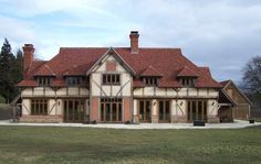 Border Oak Manor House with Herringbone brick infill detail.