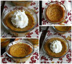 Easy Crust Less Pumpkin Pie. Grain free and sugar free, low carb dessert.