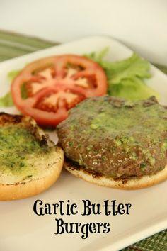 Garlic Butter Burgers-Super Yummy!!