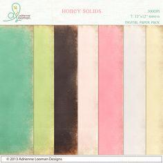 Quality DigiScrap Freebies: Honey Solids paper pack freebie from Adrienne Looman