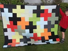 love this quilt made from men's shirts. would be an awesome bedspread in a boy's room..