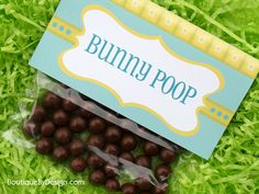 Bunny Poop - a free Printable from BoutiqueByDesign.com  #boutiquebydesign