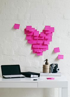 Heart post-it notes, clever. (Jason Grant)