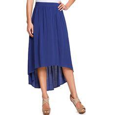 Miss Tina Women's Hi-lo Maxi Skirt