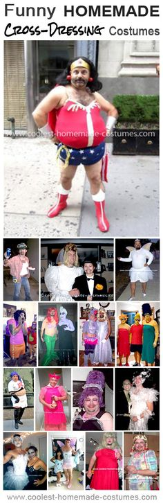 Coolest Funny Cross-Dresser Costume Ideas - Homemade Halloween Costume Contest