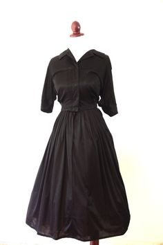 Vintage 1950s Black Dress by RetroKittenVintage on Etsy, $25.00