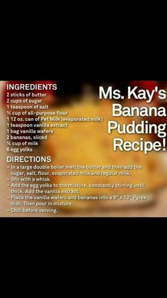 Ms. Kay from Duck Dynasty ....nanner pudding