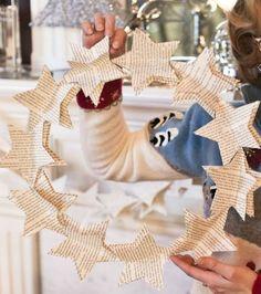 Diy Book Page Star Wreath Christmas wreath http://www.hobbycraft.co.uk