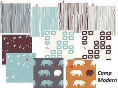 Baby Boy Crib Bedding Organic Camp Modern by LilMrSmartyPants, $180.00   LOVE the blue bear pattern