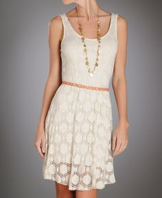 Renee C Circle Crochet Dress. $88