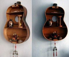 an interesting idea to reuse the carcass broken guitars