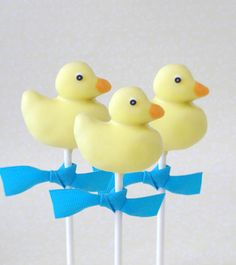 Yellow Rubber Duck and Ducky Cake Pops