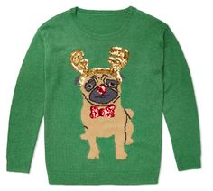 Adorable pug sweater!