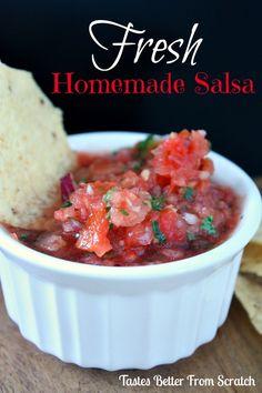 Fresh Homemade Salsa | Tastes Better From Scratch #salsa
