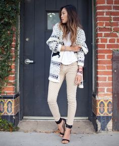 Love theCurrent Elliott polka dot jeans