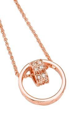 Rose Gold Circle Pendant Necklace