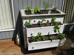How to Build a Garden Box out of a Dresser