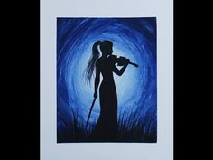 ▶ Silhouette Painting - Violinist - YouTube