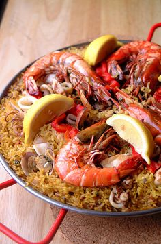 Paella:  my favorite food EVER from spain.  if only i had gotten a real paella pan from when i was over there...
