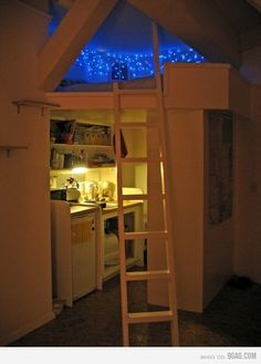 the loft, dream, christmas lights, kid rooms, nook, hous, small spaces, bedroom, starry nights