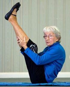 """Bernice Bates: 91  Bernice has been practicing and teaching since 1960! She says she'll never stop doing yoga and credits yoga for her health: """"I think yoga is the best exercise there is. I've never had anything I had to go to the doctor for, except checkups. That should say something."""""""