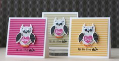 Mini Owl Valentines by Laura Bassen for Papertrey Ink (December 2013)