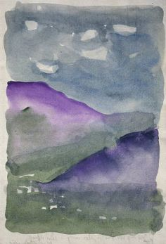 Georgia O'Keeffe. Untitled (Landscape)  Watercolor on paper, 1917