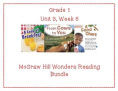 This first grade interactive journal is aligned to Common Core and to the McGraw Hill Wonders series for Unit 3-Week 3. These journal entries allow students to be engaged while reading the text.