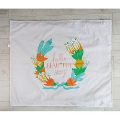 Hello beautiful thing! Designed by Artists toddler blanket