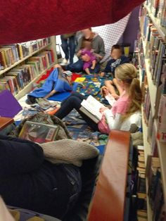 Create a family fun evening at your library after hours. Build forts, read, play hide and seek. No cost program for the school age.