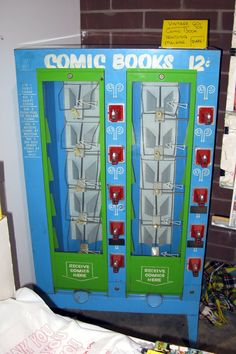 Comic book vending machine from the 1960's.