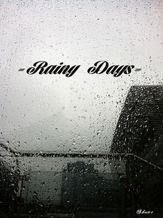 Love me a rainy day!