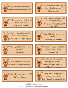 ABC and 123: Reindeer Jokes: A FREE Printable