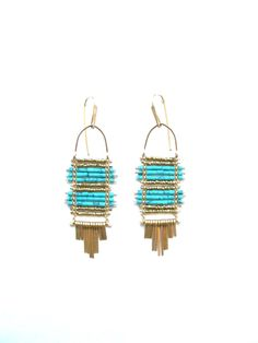 Demimonde turquoise and gold earrings