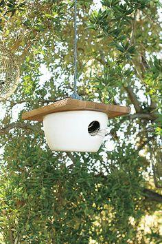 minimalist birdhouse from Anthro